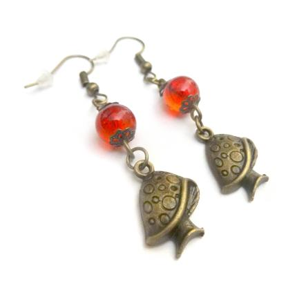 Boucles d oreilles champignons // mushrooms earrings